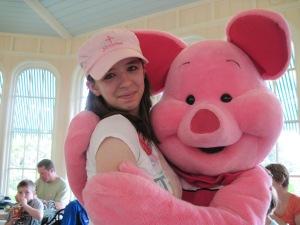 Me meeting Piglet!